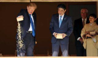 Donald Trump perd patience devant un étang de carpes, Twitter explose de rire !