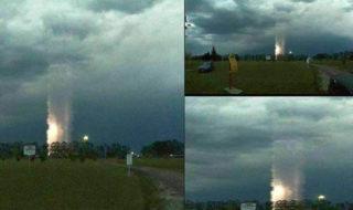 Un OVNI ? Cette photo d'une étrange colonne de lumière affole les chasseurs d'extraterrestres