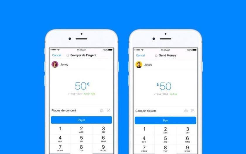 Facebook messenger envoi argent