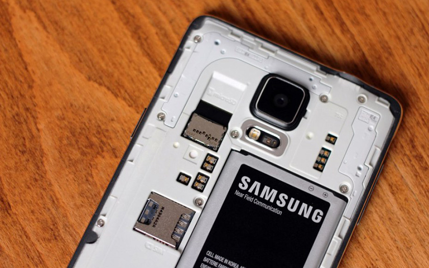 galaxy note 4 smartphone batterie amovible