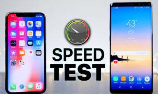 iPhone X vs Note 8 speed test : lequel est le plus rapide ?