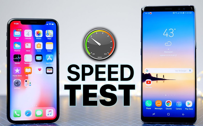 iphone x note 8 speed test