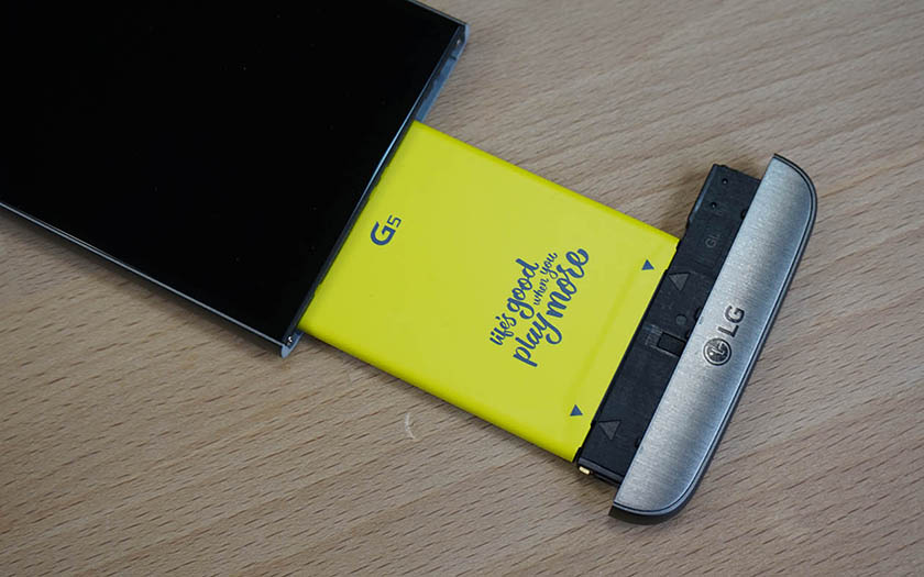 lg G5 smartphone batterie amovible