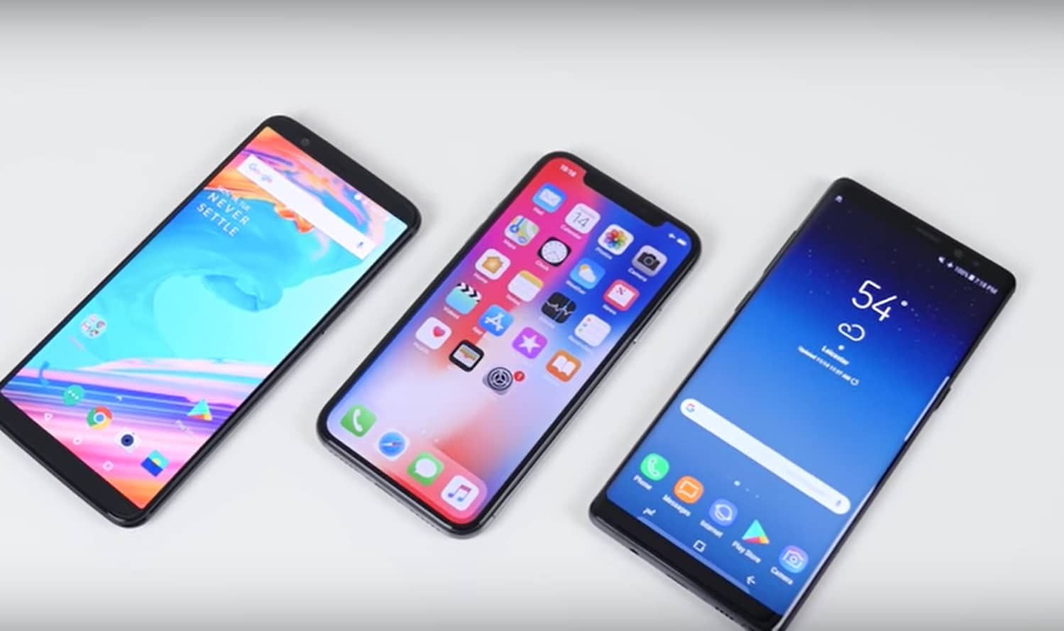 oneplus 5t iphone x galaxy note 8