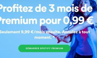 Bon plan : Spotify Premium à 0,99 euros pendant 3 mois