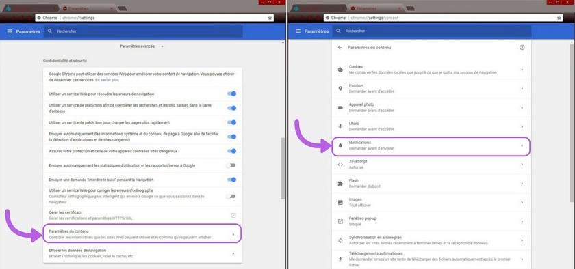 Google chrome comment bloquer les notifications for Bloquer les fenetre publicitaire google chrome