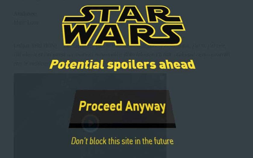 Star Wars 8 bloquer spoiler