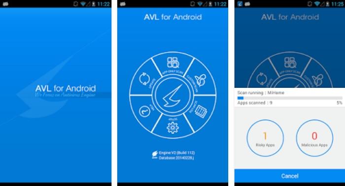 AVL antivirus smartphone Android