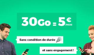 Bon plan RED by SFR : le forfait 30 Go 4G à 5€ par mois à vie et sans engagement