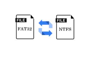 Comment convertir un disque FAT32 en NTFS et vice versa
