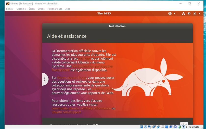 installer linux dans windows 10 à l'aide d'une machine virtuelle