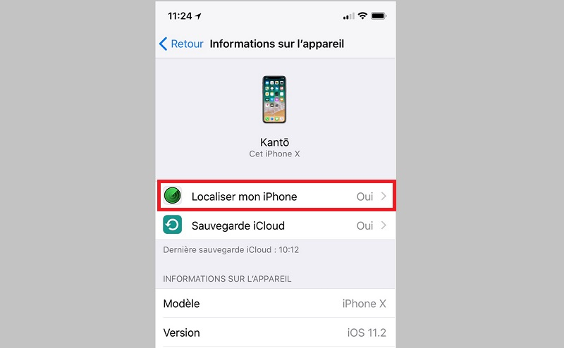 localiser iPhone activation