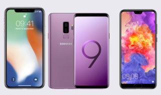 Guide d'achat : les meilleurs smartphones haut de gamme de 2018