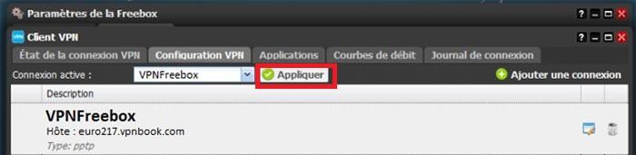 appliquer vpn freebox