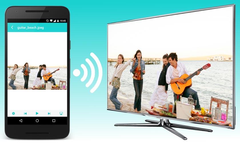 Connecter smartphone TV