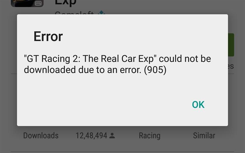 Google Play Code erreur