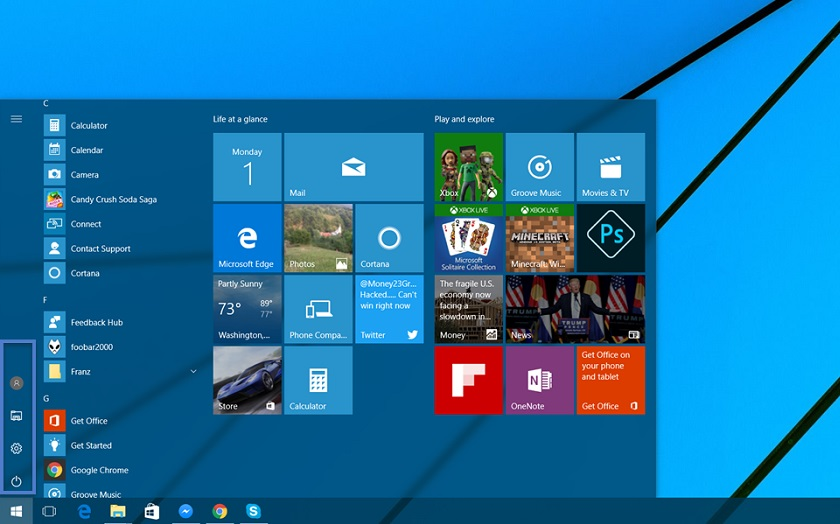 Windows 10 personnaliser menu demarrer