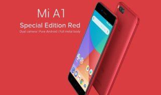 Bon plan : Xiaomi Mi A1 édition spéciale rouge à 174 euros