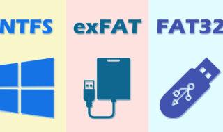 Différences entre Fat32, exFAT et NTFS