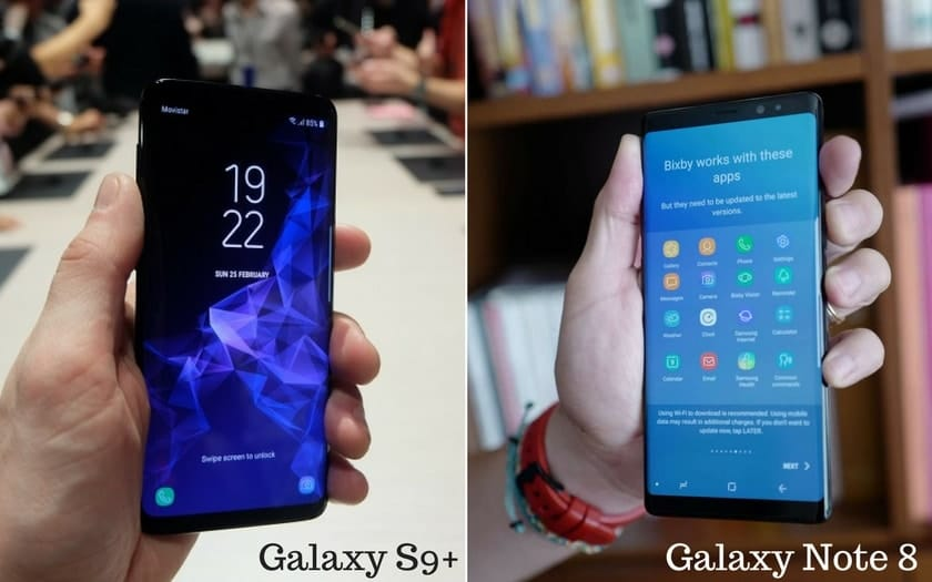 Galaxy S9 Plus vs Galaxy Note-8 comparatif