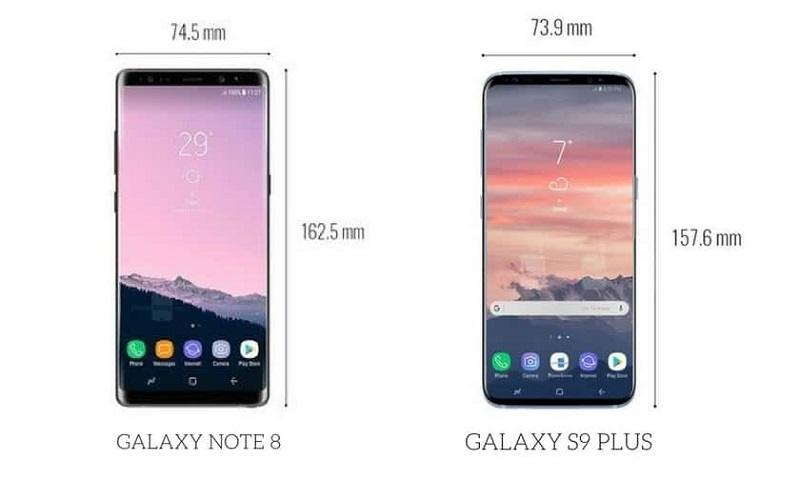 Galaxy S9 Plus vs Note 8