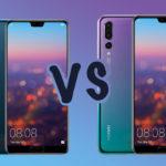 Huawei P20 vs P20 Pro comparatif