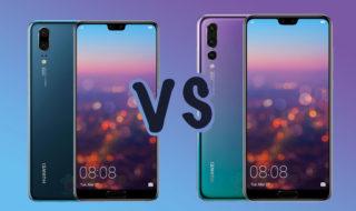 Huawei P20 vs Huawei P20 Pro : leurs différences