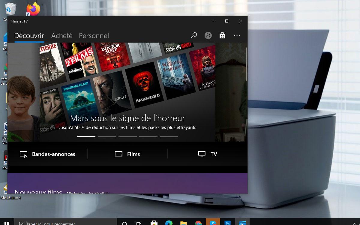 Mode sombre Windows 10