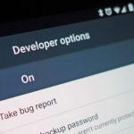 Option développeur Android