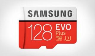 Bon plan : carte microSD Samsung 128 Go UHS-3 Classe 10 à 35,47€ sur GearBest