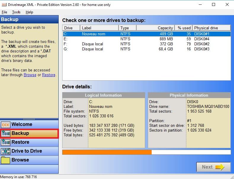 clonage de disque système windows 10
