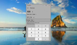 Windows 10 : comment convertir des devises et unités de mesure avec la calculatrice