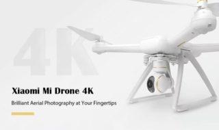 Bon plan : Drone Xiaomi Mi 4K FVP blanc à 387.69 € sur GearBest