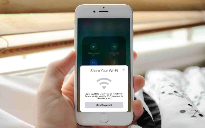 Partager mot passe wifi iPhone