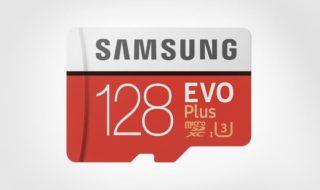 Bon plan : Carte mémoire Micro SDXC Samsung Evo Plus classe 10 128 Go à 32 euros