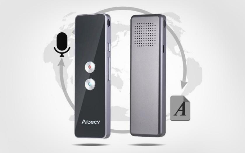 Traducteur instantané instantané de 2 langues de Aibecy