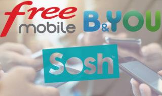 Free Mobile, B&You, Sosh, SFR RED : tous les bons plans forfaits mobiles à 5 € par mois