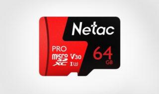 Bon plan : carte mémoire micro SD Netac 64 Go à 18,10 €
