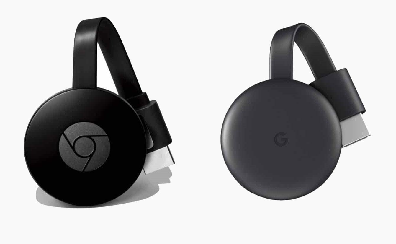 Chromecast 2 (à gauche) et Chromecast 3