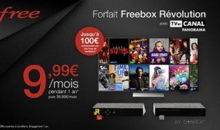 Vente privée Freebox Revolution : l'abonnement avec option TV By Canal Panorama à 9,99 € / mois pendant 1 an