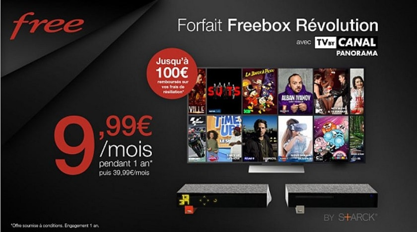 Forfait freebox revolution tv by canal panorama