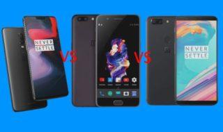 Comparatif OnePlus 6 vs OnePlus 5 vs OnePlus 5T : quelles différences ?