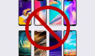 Smartphones sans encoche