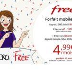 Vente privée free mobile 100 Go