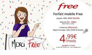Vente privée Free Mobile : le forfait 100 Go est à 4,99 euros pendant 1 an