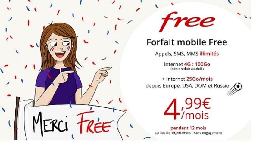 vente priv e free mobile le forfait 100 go est 4 99 euros pendant 1 an. Black Bedroom Furniture Sets. Home Design Ideas