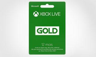 Bon plan : Abonnement Xbox Live Gold 12 mois à 35,99 €