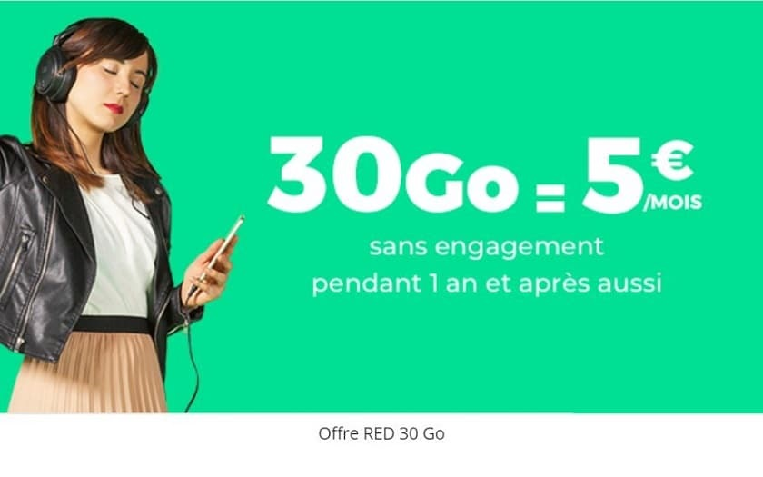 Showroomprive SFR RED 30 Go
