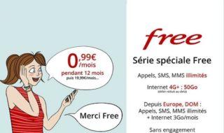 Vente privée Free Mobile : un forfait 50 Go à 0,99 € par mois pendant un an