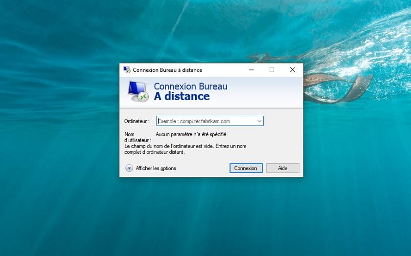 Bureau distance Windows 10